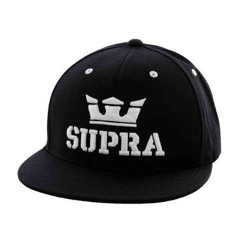 czapka z daszkiem SUPRA - Above Snap Black/White (BKW) rozmiar: OS, kolor biały