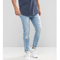 Brooklyn Supply Co Skinny Fit Ripped Jeans Heavily Washed - Blue, jeans