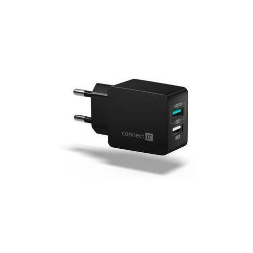Connect it Ładowarka do sieci fast charge 2x usb, 3,4a s funkcí rychlonabíjení (cwc-2015-bk) czarny
