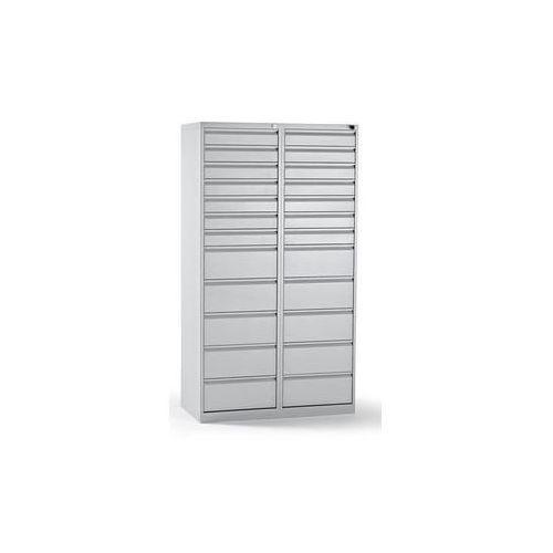 Szafka szufladowa, stal,wys. x szer. x głęb. 1800 x 1000 x 500 mm, 24 szuflad marki Quipo