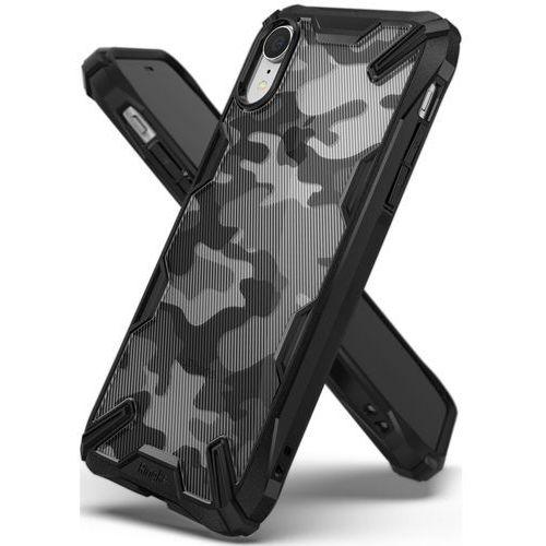 Ringke fusion x design etui pancerny pokrowiec z ramką iphone xr czarny (xdsg0016) (8809659043169)