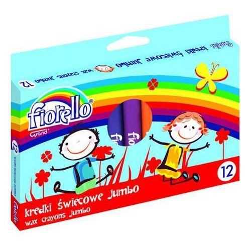 Kredki świecowe 12 kolorów Fiorello Jumbo (5903364246181)