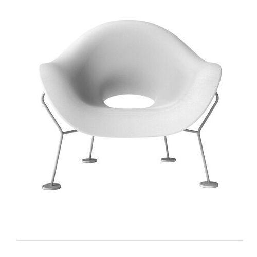 QeeBoo Fotel Pupa biało-chromowany 60001WH-CR (8052049050524)