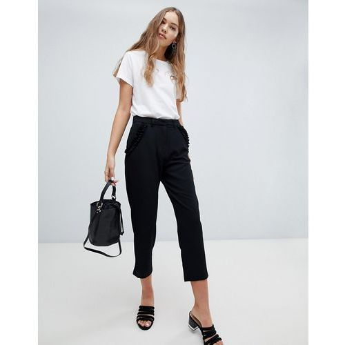 Brave soul lexie tailored trousers with frill pockets - multi
