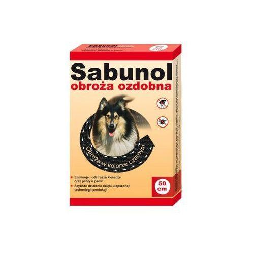 Dr seidel sabunol - ozdobna obroża przeciw pchłom i kleszczom dla psa czarna 50cm marki Dr seidla