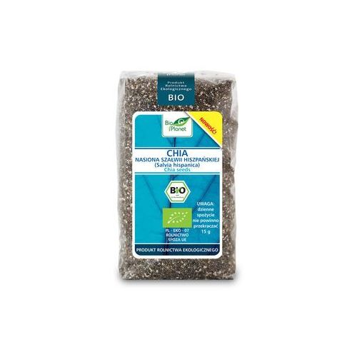 Chia (nasiona szałwii hiszpańskiej) bio 400g - marki Bio planet
