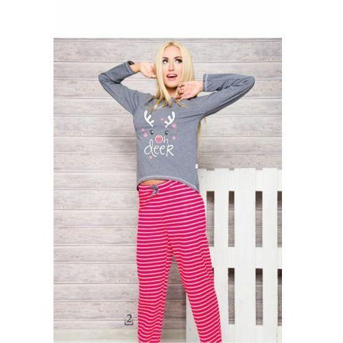 Piżama Damska Model 1193 Oda AW/17 K2 Grey/Pink