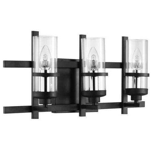 Eglo Kinkiet lindale 33106 lampa ścienna 3x40w e14 czarny (9002759331061)