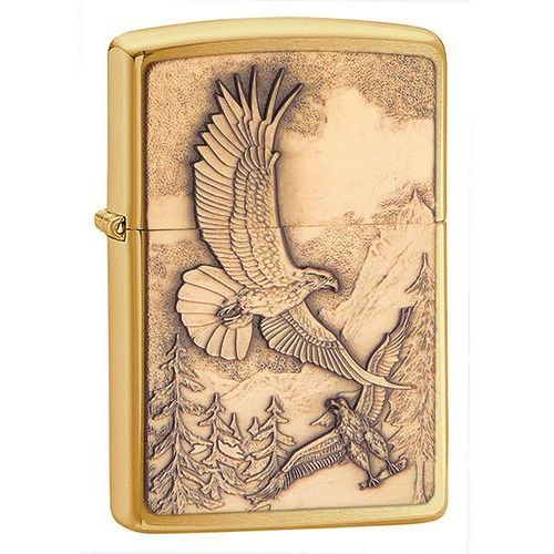 Zapalniczka Zippo Where Eagles Dare Emblem, Brushed Brass