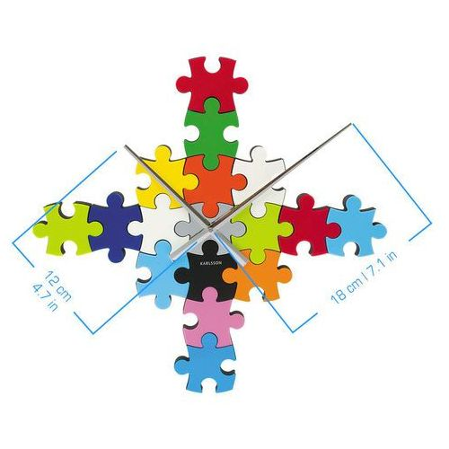 Zegar ścienny do it yourself puzzle multi colour by marki Karlsson