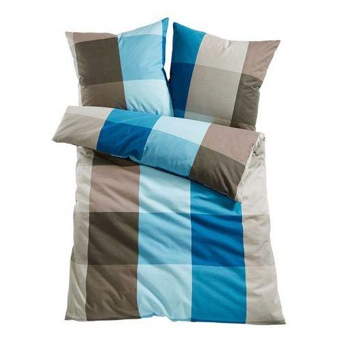 """Pościel """"Nizza"""" bonprix niebiesko-brunatny, kolor niebieski"""