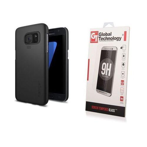 Zestaw | Etui Spigen SGP Thin Fit Black + Szkło ochronne Perfect Glass dla Samsung Galaxy S7
