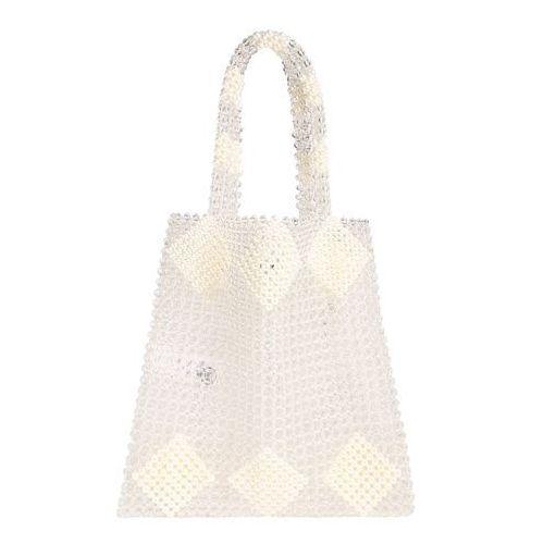 PIECES Torba shopper 'PCGILI PEARL BAG D2D' biały