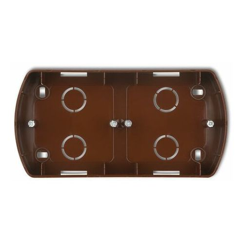 KARLIK TREND 4PTH-2 Puszka montażowa pozioma podwójna brązowy, 5908257112666
