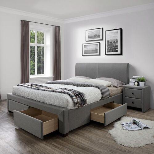 Style furniture Lorenzo tapicerowane łóżko 160x200 cm z szufladami