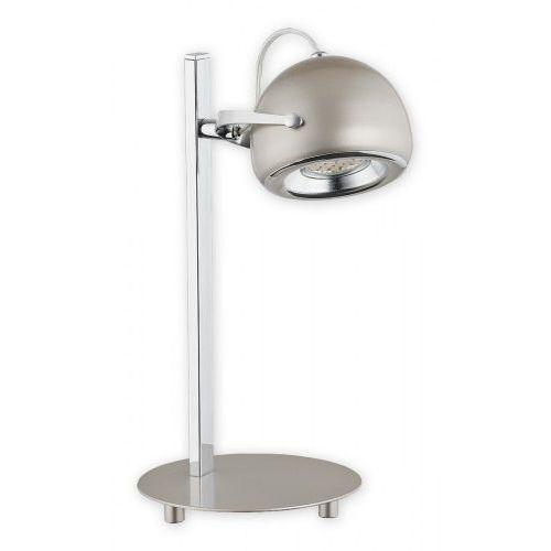 Lemir Flavio lampka stołowa 1 pł. / chrom + satyna, dodaj produkt do koszyka i uzyskaj rabat -10% taniej!