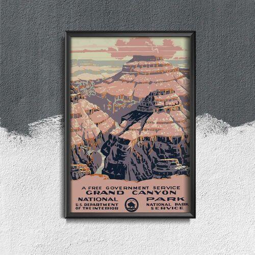 Plakat w stylu retro plakat w stylu retro park narodowy wielkiego kanionu marki Vintageposteria.pl