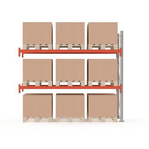 Regał paletowy ultimate, moduł dodatkowy, 2500x2750x1100 mm, 9 palet marki Aj produkty