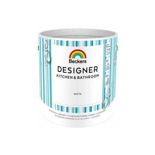 Beckers Farba wewnętrzna designer kitchen & bathroom 2.5 l white