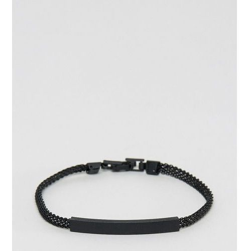 Designb london Designb chain id bracelet in black exclusive to asos - black