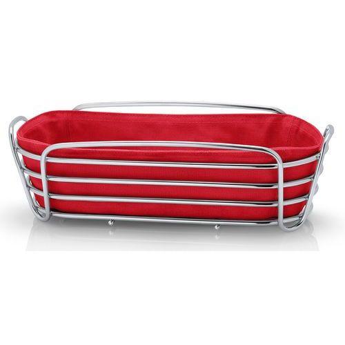 Czerwony koszyk na pieczywo Blomus Delara owalny (B63674), 63674