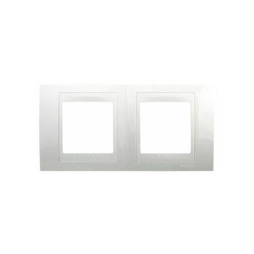 Unica plus ramka podwójna pozioma biel polarna mgu6.004.18 marki Schneider electric