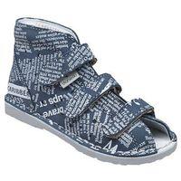 Kapcie profilaktyczne buty t105l t115l jeans gazeta - jeans ||szary ||multikolor marki Danielki