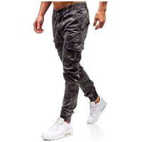 Spodnie męskie joggery bojówki grafitowe Denley 5398, bojówki