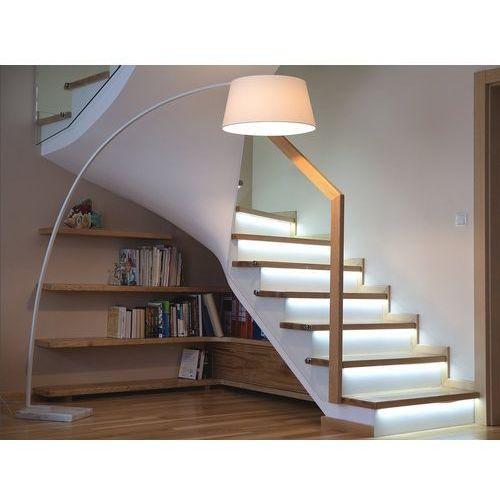 Beliani Lampa stojąca - lampa podłogowa - kolor biały - oświetlenie - benue (7081458983049)
