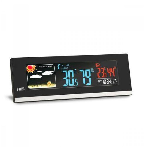 Elektroniczna stacja pogodowa, 21,5 x 7,5 x 3 cm, czarna marki Ade