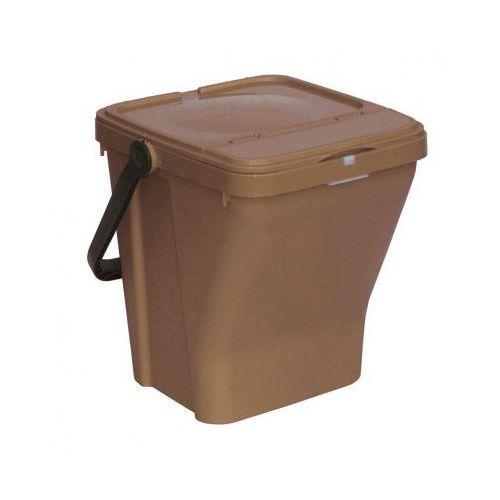 B2b partner Plastikowy kosz na śmieci ecotop ii, brązowy