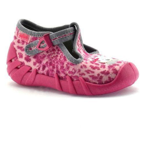 Kapcie dla dzieci 110p304 speedy - różowy   fuksja marki Befado