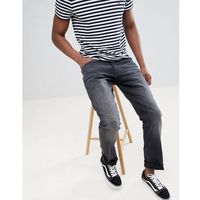 Esprit straight fit jeans washed black in organic cotton - black
