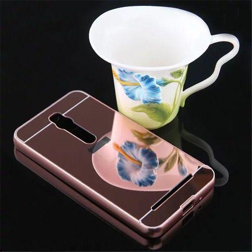 Mirror bumper  metal case różowy | etui dla asus zenfone 2 5.5 ze550ml - różowy
