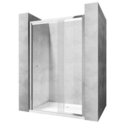 Rea Wiktor drzwi prysznicowe 80-100 cm wahadłowe szkło transparentne REA-K0548 (5902557308507)