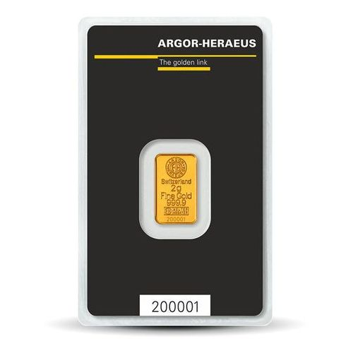Argor-heraeus 2 g sztabka złota - 15dni