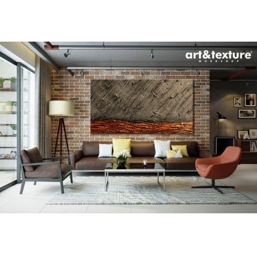 Duża abstrakcja do salonu - styl industrial chic