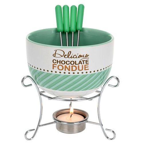 Ceramiczny zestaw do czekoladowego fondue dla 4 osób (5902891244806)