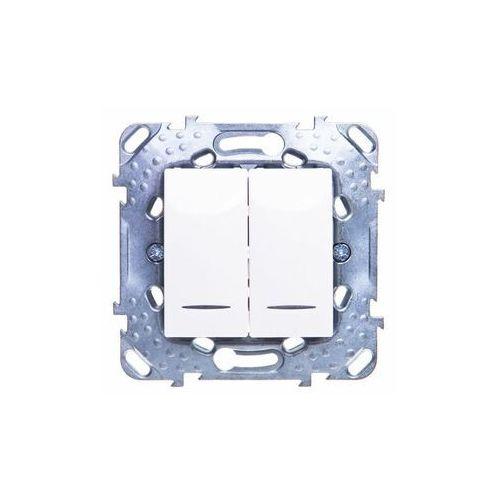 Schneider Unica Plus 2 x łącznik 1-biegunowy z podśw.piaskowy MGU50.0101.25NZ (8420375140378)