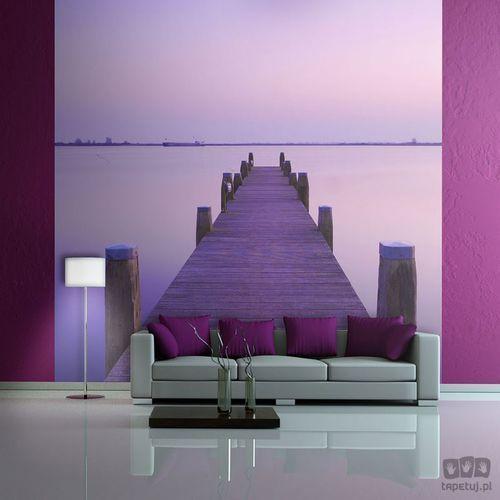 Fototapeta fioletowy zachód słońca - pomost na jeziorze 100403-85 marki Murando