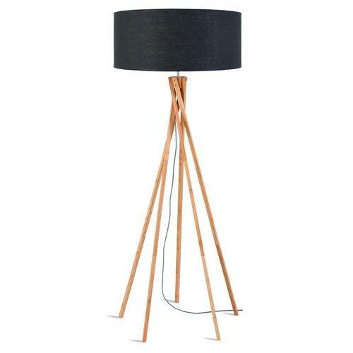 lampa podłogowa kilimanjaro bambus 129cm/ abażur 60x30cm, lniany ciemnoszary kilimanjar/f/6030/dg marki Good&mojo