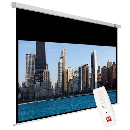 Ekran elektryczny 200x200cm  video electric 200 - matt white (ramki 2,5cm + top 48,8cm, obraz 195x146,20 cm) od producenta Avtek