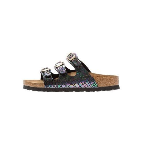 Birkenstock FLORIDA Kapcie shiny black/multicolor, 1006155