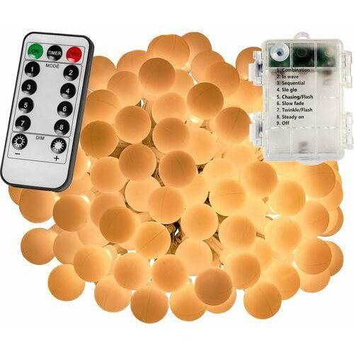 Girlanda 50 led kulki na ogród lampki choinkowe dekoracyjne ciepła biel - ciepła biel / 50 led marki Voltronic ®