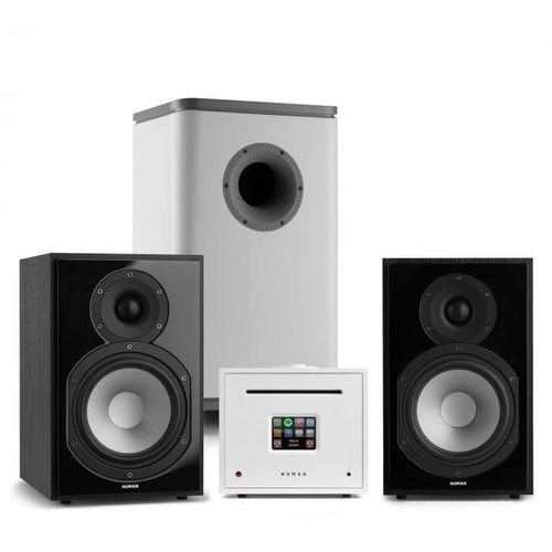unison reference 802 edition, system stereo, wzmacniacz, unisub, głośniki, czarny/biały marki Numan