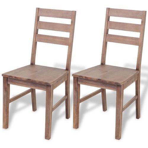 Krzesła z drewna akacjowego, 2 szt., 42x49x90 cm
