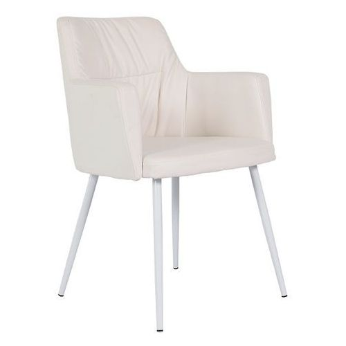 :: krzesło skórzane mars białe marki Rge