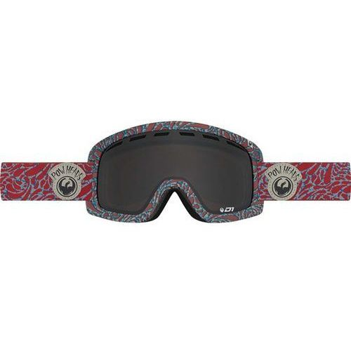 Dragon Gogle snowboardowe - d1 - pow heads red/dark smoke + yellow blue ion (455)