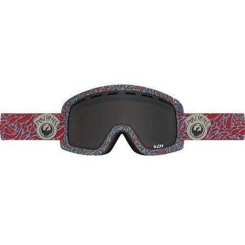 Gogle snowboardowe - d1 - pow heads red/dark smoke + yellow blue ion (455) marki Dragon