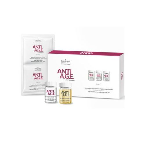 ANTI A.G.E. Antyglikacyjny zestaw przeciwstarzeniowy - 10x5ml, 10x5ml, 10x16g
